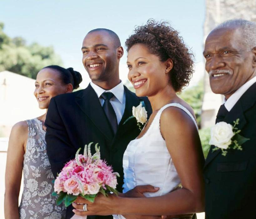 african-american-couple-at-wedding