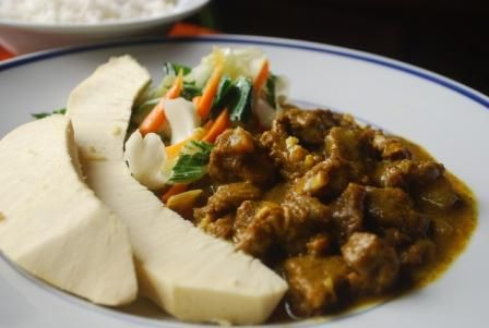 Dominican Curry Goat Jamaican Curry Goat Served
