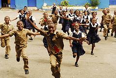 Jamaican school children at play