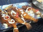 Jamaican Fry Fish with onion and other seasoning