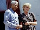 Nelson Mandela and famous people and world leaders; including President Barack Obama, Princess Diana, Micheal Jackson and Fidel Castro