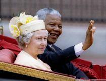 Nelson Mandela and Britain's Queen Elizabeth II