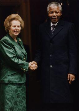 Nelson Mandela and margaret thatcher