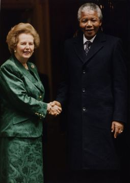 Nelson Mandela and margaret thatcher