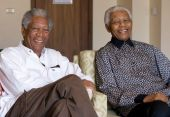 Nelson Mandela and Morgan Freeman