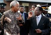 Nelson Mandela and robert mugabe