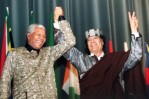 Nelson Mandela & Gadafi
