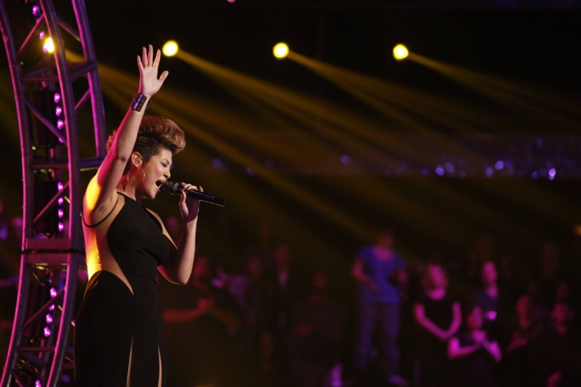 Tessane Chin Top 6 performance on NBC The Voice