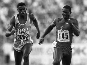 Carl Lewis and ben johnson 2