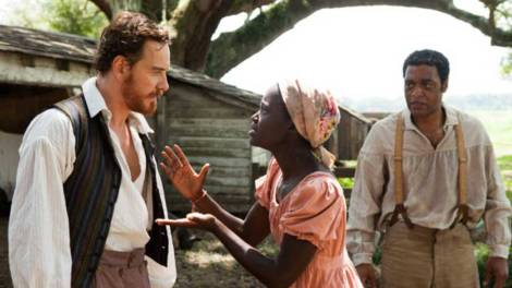 12 Years a Slave precursor to whipping scene with Lupita Nyong'o