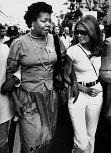 Poet Maya Angelou and Gloria Steinem