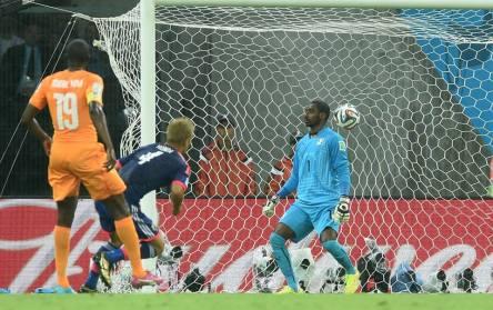 Côte d'Ivoire 2 vs 1 Japan - Honda from Japan scores