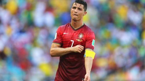 2014 Fifa World cup - Cristiano Ronaldo shows his dejection.