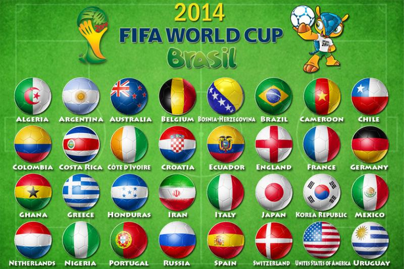 Fifa 2014 World Cup Qualifiers - countries
