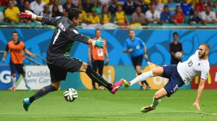 F2014 FIFA World Cup - rance's Benzema scores in the 67th minute.