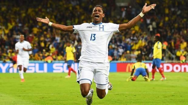 Honduras forward Carlo Costly celebrates scoring the opener in Curitiba - Honduras 1 vs. 1 Ecuador