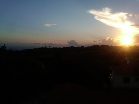 The sunset, view from top floor of Lovers Leap Guest House