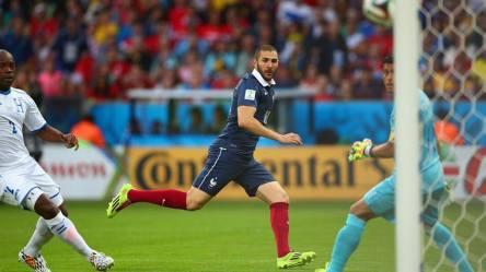 2014 FIFA World Cup – Karim Benzema shoots on the Honduras goal