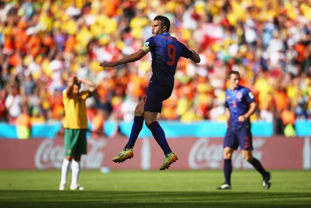 Netherlands forward Robin van Persie equalised for the Dutch just four minutes after Jedinak's penalty -  Australia 2 vs. 3 Netherlands