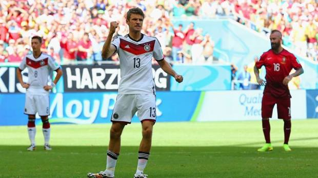 2014 Fifa World Cup - Thomas Muller celebrates