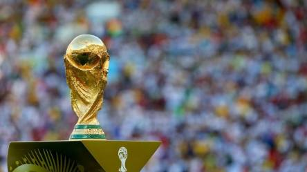 2014 FIFA World Cup - The World Cup trophy at Macarana