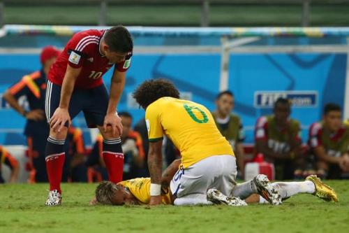 2014 FIFA World Cup - neymar injuries