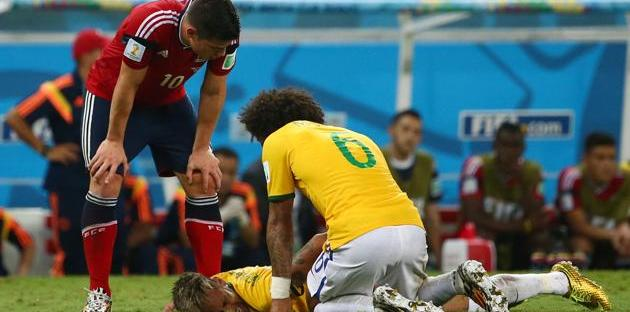 2014 FIFA World Cup - neymar injuries