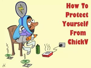 How to protect yourself from Chikungunya in Jamaica cartoon