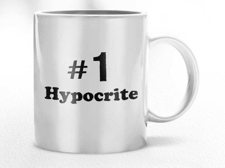 Number 1 hypocrite courtesy of davewainscott