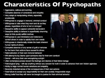 Characteristics of Psychopaths courtesy of shiftfrequency-com