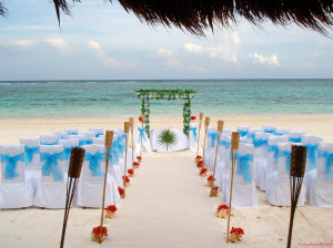 Jamaican beach wedding