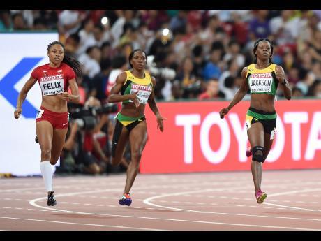 Allison Felix and Shericka Jackson in 400m finals