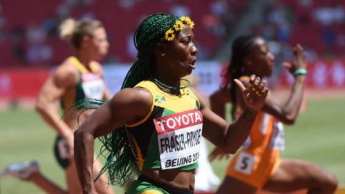 Jamaica's Shelly Ann Fraser Pryce in Beijing