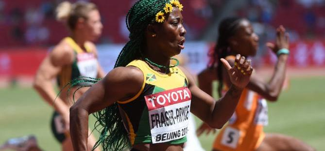 Jamaica's Shelly Ann Fraser Pryce in Beijing