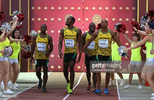 Men 4x100m Final IAAF World Champs 2015 courtesy of gettyimages