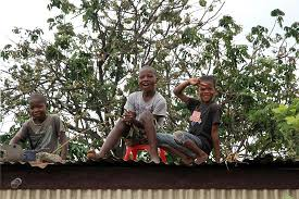 seaview gardens children on roof
