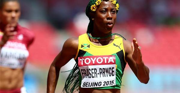 Shelly-Ann Fraser-Pryce wins the 100m finals