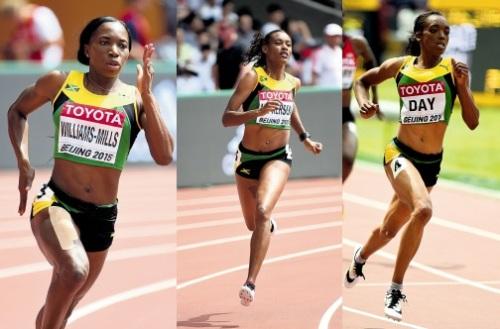 Shericka JACKSON, Novlene WILLIAMS-MILLS, Christine Day 400m women iaaf
