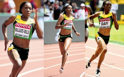 Shericka JACKSON, Novlene WILLIAMS-MILLS, Christine Day 400m women iaaf