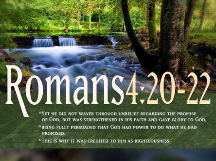 romans 4:20-22