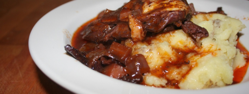 Jamaican Food: One Pot Coq au Vin with Garlic Mashed Potatoes Recipe