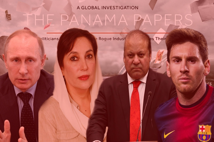 Panama Papers with Messi Putin