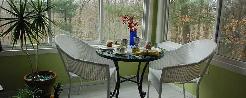 breakfast in the sunroom
