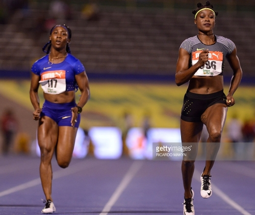 elaine thompson jamaica national trials 100m winner