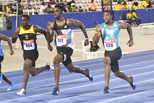 bailey-cole and Yohan Blake Jamaica Trials photos by Bryan Cummings
