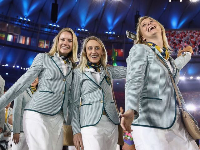 PHOTO: Members of the Australia team take part in the opening ceremony of the Rio 2016 Olympic Games at Maracana Stadium, Aug. 5, 2016 in Rio de Janeiro, Brazil.