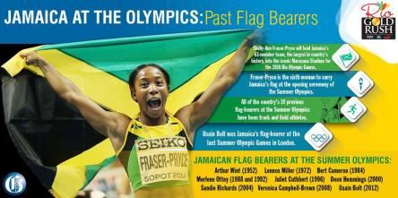 jamaica flag bearers