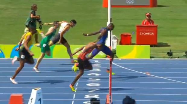 Men's 400m Hurdles Final.48