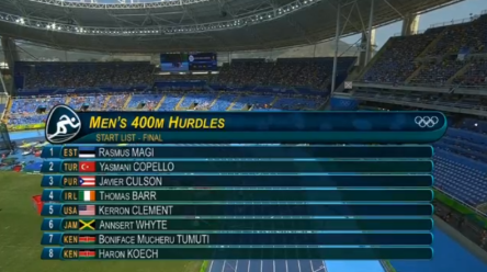 Men's 400m Hurdles Final.52