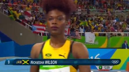 Nickiesha Wilson at the rio olympics